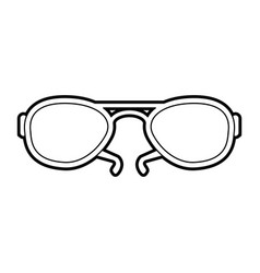 sketch silhouette image fashion glasses with black vector image