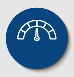 speedometer sign white vector image