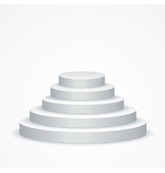 Stairs Podium vector image vector image