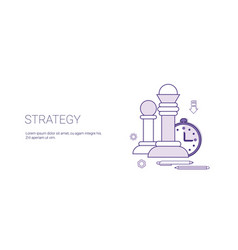 strategy planning business concept template web vector image vector image