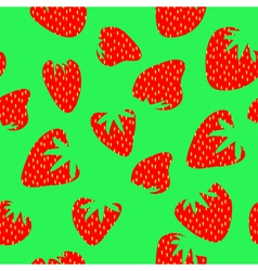 Strawberry pattern vector