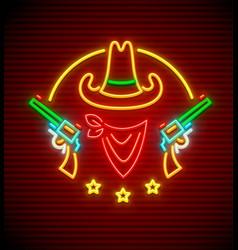 texan western cowboy hat vector image