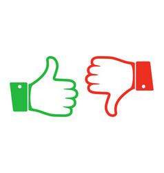 thumb up and down icon vector image