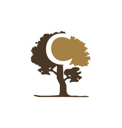 tree letter c vector image
