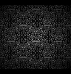 Vintage black background vector