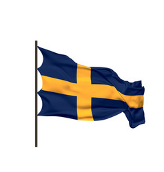Waving flag sweden vector