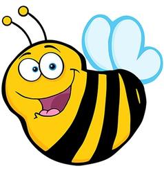 Bee Cartoon Mascot Character vector image vector image