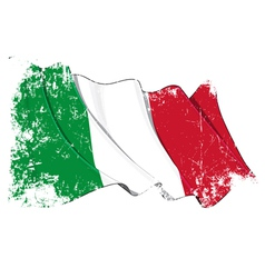 Italy Flag Grunge vector image