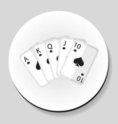 playing cards pocker royal flash combination vector image