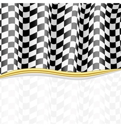 Racing Background Checkered Flag eps10 vector image