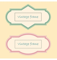 Two Vintage Frames vector image