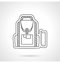 Flat line style school backpack icon vector image