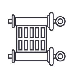 scrolltorah line icon sign vector image