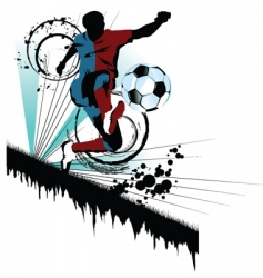 soccer traced vector image vector image