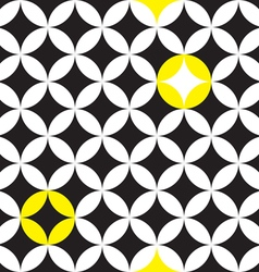 circle star pattern vector image