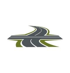 Crossroad symbol for transportation design vector image