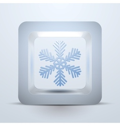 Symbol snowflake of Christmas and New Year vector image