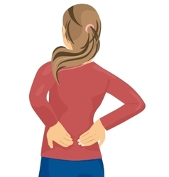 Woman having pain in her back vector image