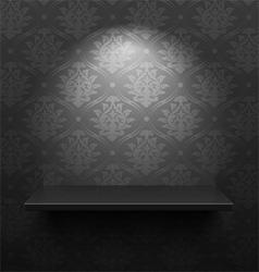 Black shelf vector image vector image