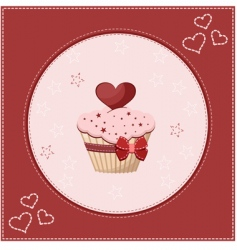 cake greeting card vector image vector image