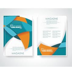 Geometric design business brochures magazines vector image vector image