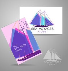 sea cruise vector image vector image