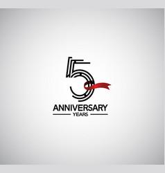 5 years anniversary logotype flat design vector