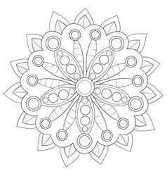 a children coloring bookpage a cute mandala image vector image