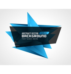 Abstract geometric 3d blue shape background vector
