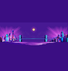 abstract neon city vector image