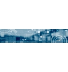 Abstract technology concept industrial web header vector