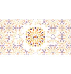 Arabic islamic seamless mosaic pattern vector