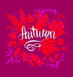 Autumn bright design vector