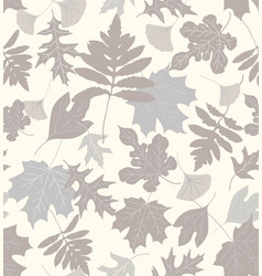 autumn leaves - neutrals vector image