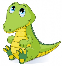 baby crocodile vector image