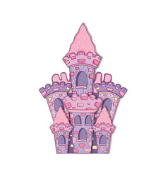 beautiful fairytale castle icon vector image