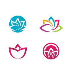 Beauty lotus flowers design vector