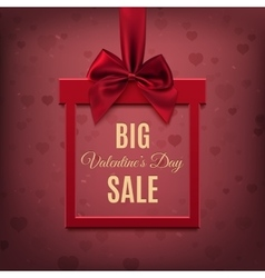 Big Valentines Day Sale vector image