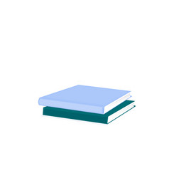 books in a flat style isolated on a white vector image