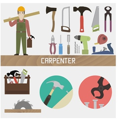 Carpenter vector image