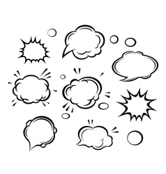 Cartoon clouds and bubbles vector image
