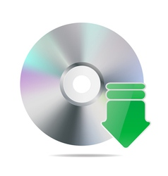 Cd icon vector