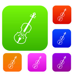 cello set collection vector image