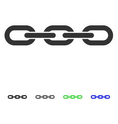 Chain flat icon vector