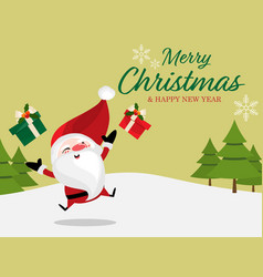 christmas holiday season background with merry vector image
