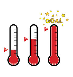 Clipart set of goal thermometers vector