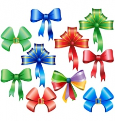 collection of bows vector image