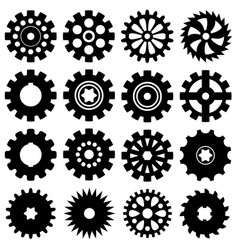 collection of gear icons vector image