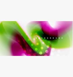color flowing wave trendy liquid design template vector image