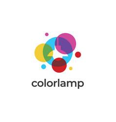 color lamp logo vector image